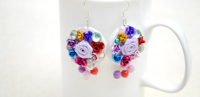 How to Make Flower Earrings - Handmade Colorful Flower Earring Design