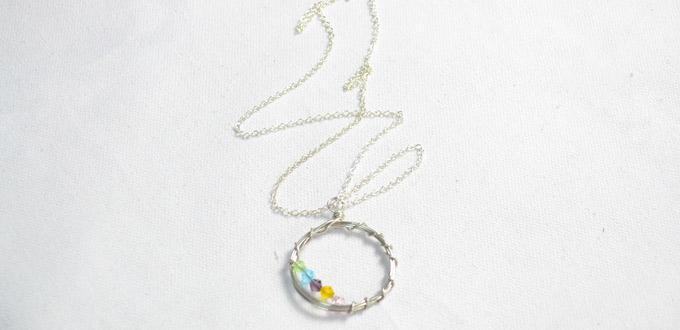 Simple Silver Wire and Beads Jewelry Project - How to Make Beaded Necklaces with Wire