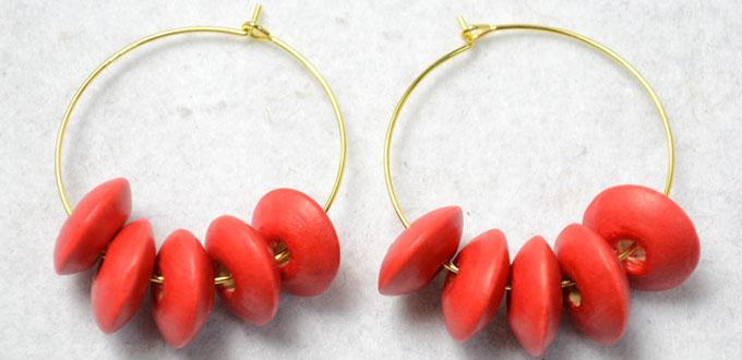DIY Fashion Earrings Tutorial- How to Make Red Bead Earrings