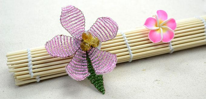 Tutorial - Make a Blooming Flower Brooch out of 3mm Pink Seed Beads