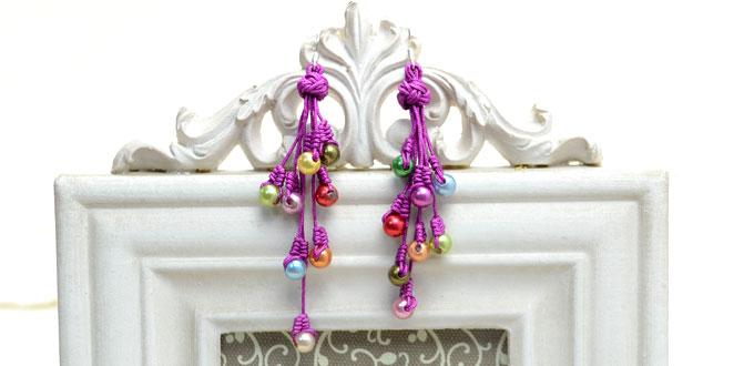 Instructions on Making Macrame Earrings with 2 Traditional Chinese Knots