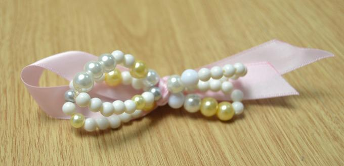 Princess-Style Beaded Hair Clip Designs with Pearls