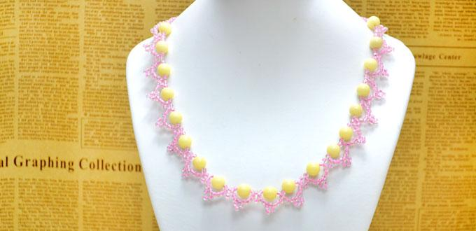 Free Pattern for Beading a Lace Necklace with Seed Beads