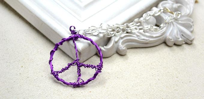 Easy instructions on making a wire wrapped peace sign pendant for easy instructions on making a wire wrapped peace sign pendant for girls aloadofball Images