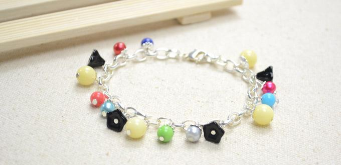 Tutorial on Making a Cute Colorful Beaded Charm Bracelet