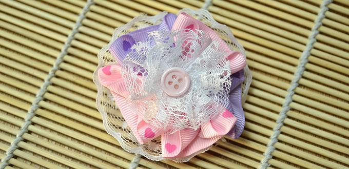 How to Make Layered Lace Ribbon Flowers for Brooch