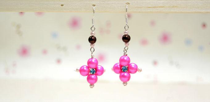 How to Make Easy Pearl Drop Earrings with Rhinestone Bead