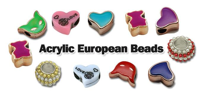 Versatile Shaped Acrylic European Beads for Jewelry Making