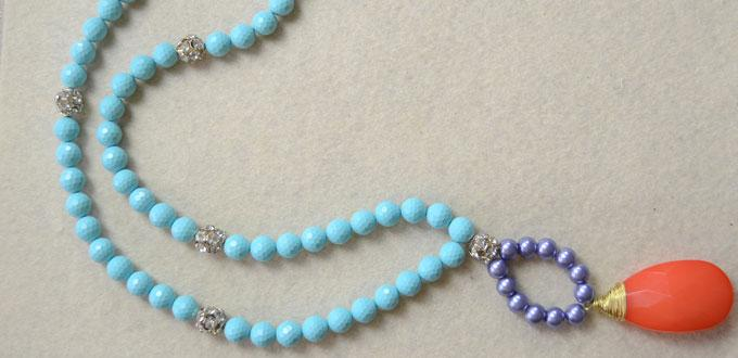 Patterns for Making a Turquoise Bead Necklace with Pendant