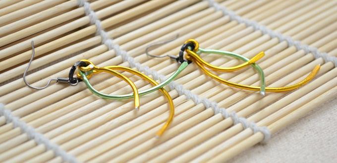 Make Fringe Wire Earrings Pattern Step by Step