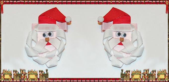 How to Make a Lovely Santa Claus with Ribbon for Christmas