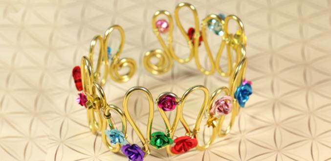How to Make a Garden of Roses Wire Bracelet