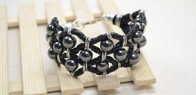 Tutoriel de Saint-Valentin sur la fabrication de bracelet de cuir pour votre petit ami
