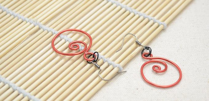 Making Spiral Zen Earrings with Red Aluminum Wire