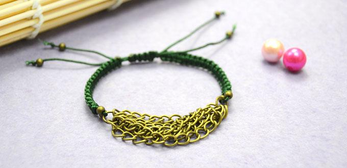 Cool Ways to Make an Easy Friendship Bracelet with Chain and String in 10 Minutes