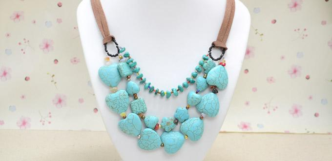 Simple Tutorial on Making a Pretty Multi-Strand Turquoise Bead Necklace