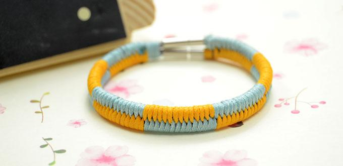 How to Make a Two Color Woven Fishtail Friendship Bracelet Step by Step