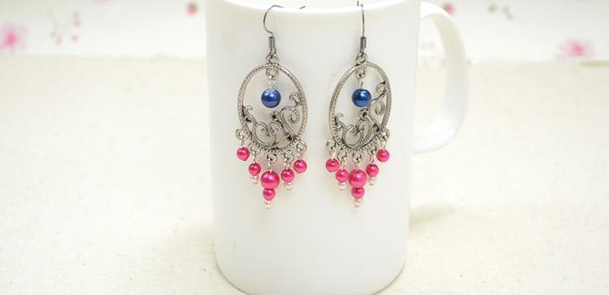 Tutorial on diy beaded chandelier earrings with pink pearls tutorial on diy beaded chandelier earrings with pink pearls mozeypictures Choice Image