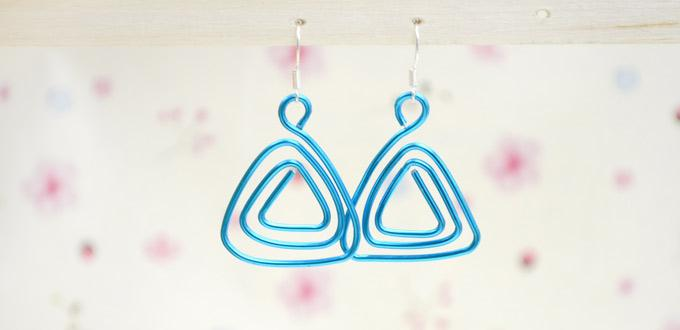 Tutorial on Making Hanger Earrings with Simple Wire Coiling Techniques