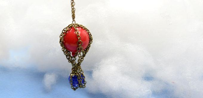 How to Make a Custom Up Movie Necklace with a Hot Air Balloon Pendant