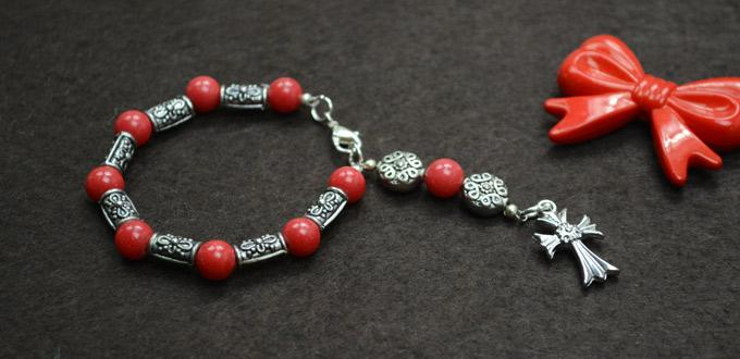 Jewelry Idea on DIY Rosary Bracelet with Red Mashan Jade Beads