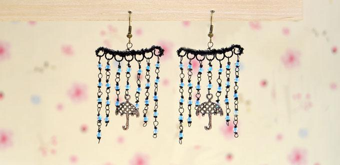 """Whimsical Ideas on Making a """"Be Your Umbrella"""" Seed Bead Fringe Earrings"""