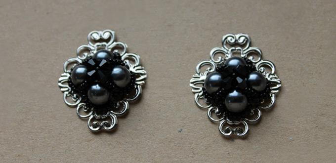 Beaded Jewelry Tutorial - How to Make Funky Black Beaded Pendants