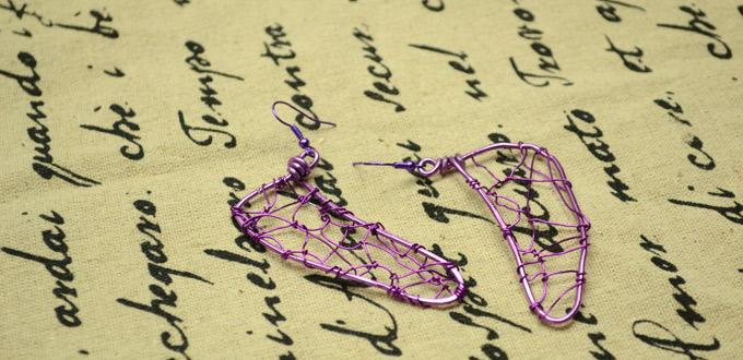 How to Wire Wrap Dragonfly Wing Earrings in Mysterious Purple