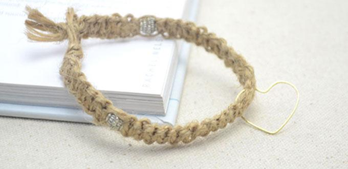 Easy Tutorial On How To Make A Cool Hemp Bracelet For Men With Tibetan Beads