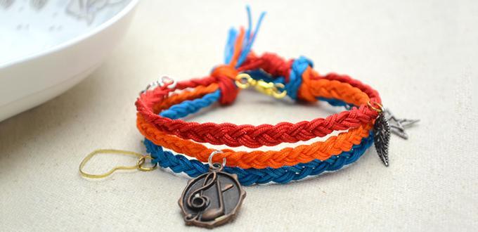 Macrame Friendship Bracelet Tutorial - How to Finish a Multi Strand Charm Bracelet