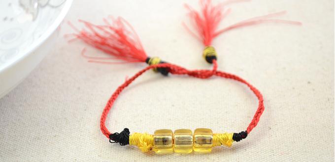 how to make easy friendship string bracelet for beginners