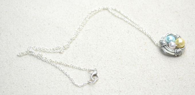 diy birds nest necklace  u2013 making jewelry with wire and