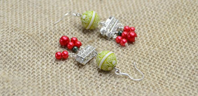 Making Chandelier Earrings with Beads and Rhinestones in Fresh and ...