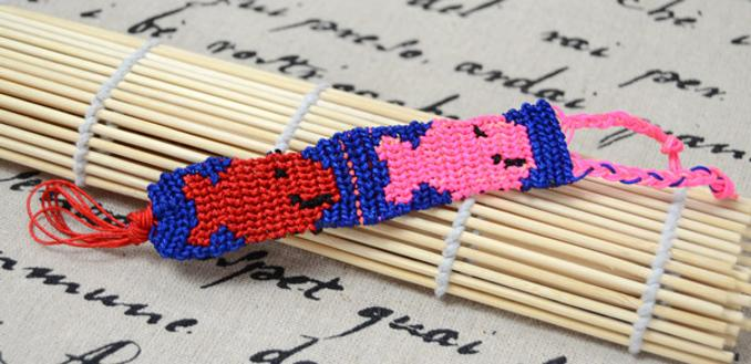 How to Make Braided Friendship Bracelet in Bicolored Pisces Pattern