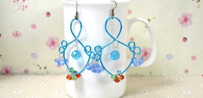 Step-by-Step Patterns on Making Fish-like Wire Earrings
