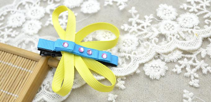 Making Cute Butterfly Ribbon Hair Clips for Little Girls