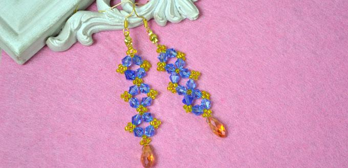 Easy Tutorial on Making Long Crystal Earrings with Beads