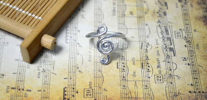 Simple Tutorial on Making a Beautiful Treble Clef Ring for Girls