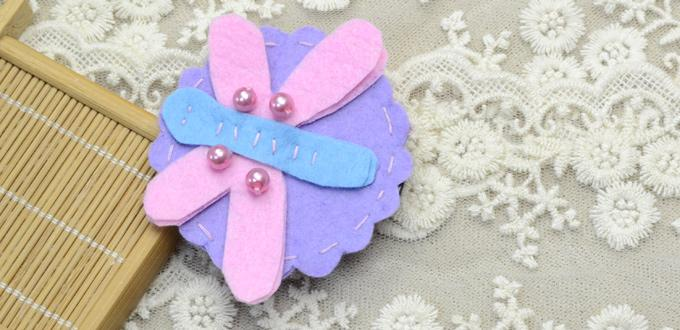 Handmade Felt Hair Clips-Making Dragonfly Hair Clips within 15 Minutes