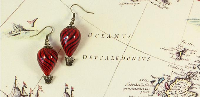 How to Make Simple Drop Hot Air Balloon Earrings out of Blown Glass Beads