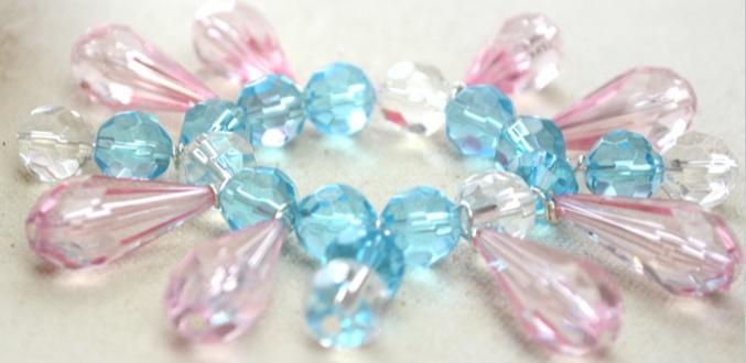 Easy Tutorial on Making Crystal Bead Charm Bracelet for Women