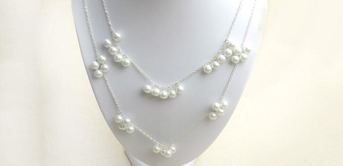 How to Make a Double Strand Long Pearl Necklace