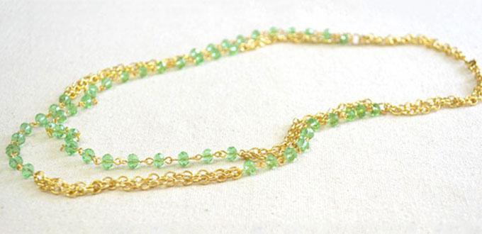Multifunctional Jewelry Design - How to Make a Long Chain Jewelry with Glass Beads