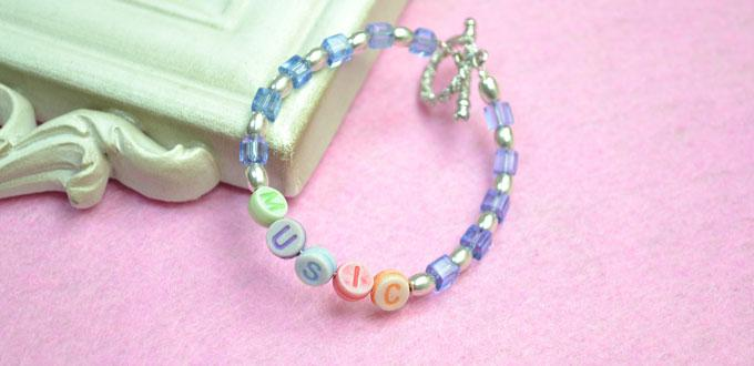 Simple Patterns on Making Personalized Alphabet Beads Bracelet