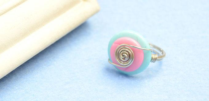 Candy Jewelry Tutorial on Making a Wire Wrapped Button Ring