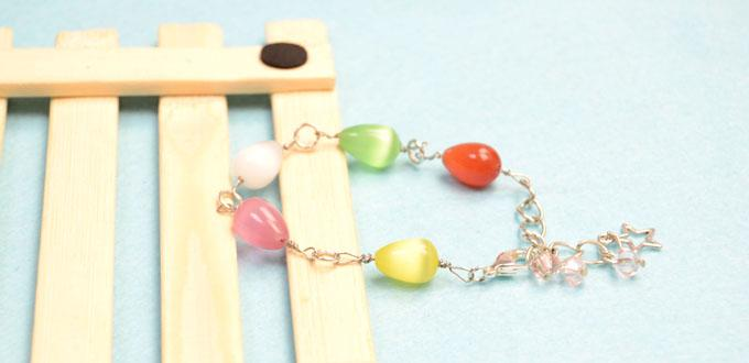 How to Make a Simple Chain Bracelet with Colorful Beads