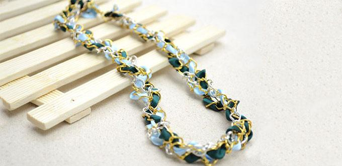 how to make ribbon necklaces