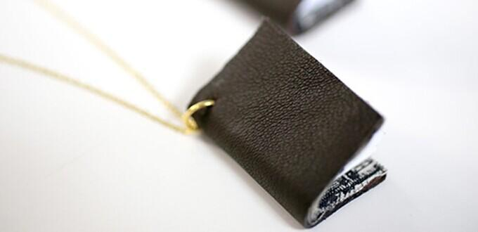 Personalized Jewelry Design – How to Make a Mini Book Necklace with Leather