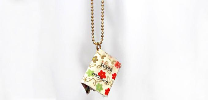 Photo Jewelry Gifts on Making a Tiny Album Book Pendant Necklace at Home
