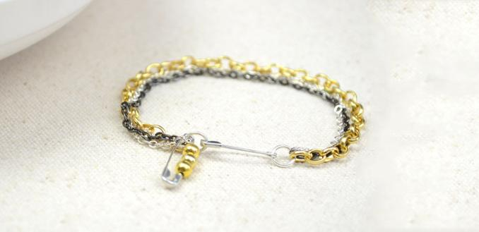 Simple Bracelet Tutorial on Making Triple Chain Style Jewelry in 3 Steps